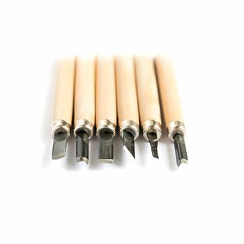 قلم مغار دستی چوبی   6عددی