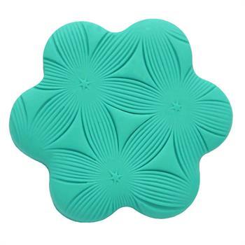 چاپ خمیرطرح گل شش پرخط دار