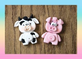 آموزش ساخت خوک و گاو با کاتر ست حیوانات و خمیر پلیمری آرتینا